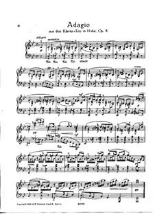 Klaviertrio Nr.1 in H-Dur, Op.8: Adagio. Version für Klavier by Johannes Brahms