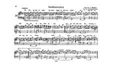 Volkskinderlieder, WoO 31: Nr.4 Sandmännchen, für Klavier by Johannes Brahms
