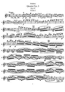Streichquartett Nr.3 in B-Dur, Op.67: Violinstimme I by Johannes Brahms