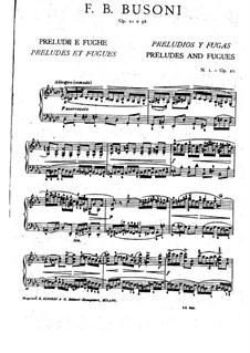 Präludium und Fuge in c-Moll, BV 85 Op.21: Für Klavier by Ferruccio Busoni