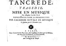 Tancrède: Vollpartitur by André Campra