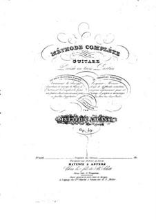 Vollständige Guitarreschule, Op.59: Teil III by Matteo Carcassi