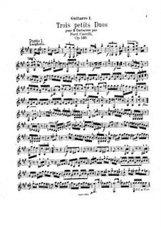 Drei kleine Duette für zwei Gitarren, Op.146: Stimmen by Ferdinando Carulli