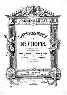 Ausgewählte Werke: Für Violine (oder Flöte) und Klavier by Frédéric Chopin