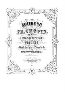 Nr.2 in Es-Dur: Für Violine und Klavier by Frédéric Chopin