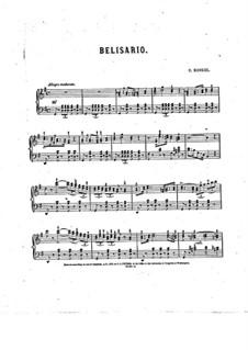 Belisario : Belisario by Charles Kinkel
