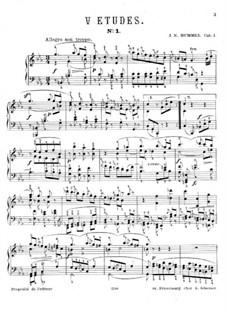 Zehn Etüden für Klavier: Zehn Etüden für Klavier by Johann Nepomuk Hummel