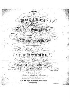 Sinfonie Nr.41 in C-Dur 'Jupiter', K.551: Für Flöte, Violine, Cello und Klavier by Wolfgang Amadeus Mozart
