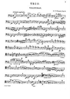 Klaviertrios, Op.12, 83, 93: Cellostimmen by Johann Nepomuk Hummel