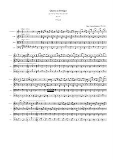 Quartett für Klarinette und Streicher in D-Dur, Op.82: Teil IV by Franz Krommer