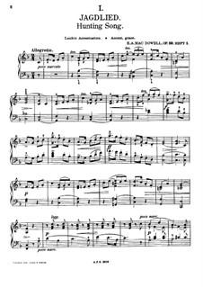 Zwölf Etüden, Op.39: Nr.1 Jagdlied by Edward MacDowell