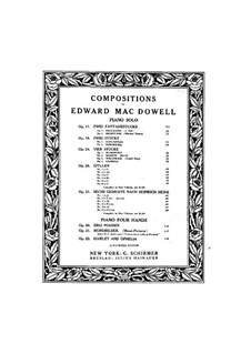 Vier Stücke, Op.24: Nr.1 Humoreske by Edward MacDowell