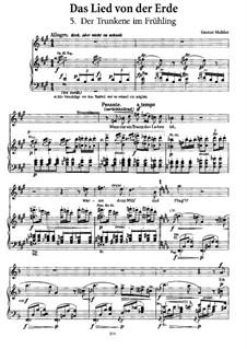 Der Trunkene im Frühling: Der Trunkene im Frühling, für Stimme und Klavier by Gustav Mahler
