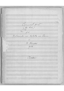 Cellokonzert Nr.5 in G-Dur, Op.66: Vollpartitur by Franz Neruda