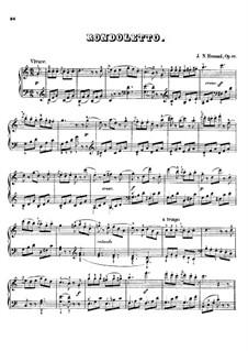 Rondoletto in C-Dur, S.165 Op.52 No.6: Rondoletto in C-Dur by Johann Nepomuk Hummel
