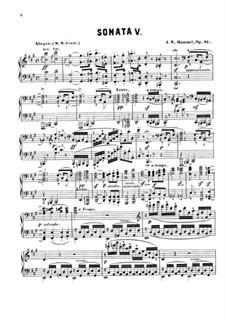 Sonate für Klavier Nr.5 in fis-Moll, Op.81: Teil I by Johann Nepomuk Hummel