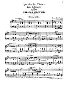 Malagueña and Habanera, Op.21: Für Klavier by Pablo de Sarasate