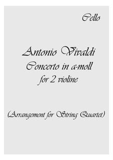 Konzert für zwei Violinen und Streicher Nr.8 in a-Moll, RV 522: Version für Streicher Quartette by Antonio Vivaldi