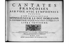 Französische Kantaten: Buch III by Jean-Baptiste Stuck