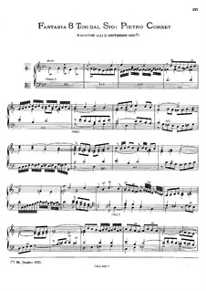 Fantasia del ottavo Toni: Fantasia del ottavo Toni by Peeter Cornet