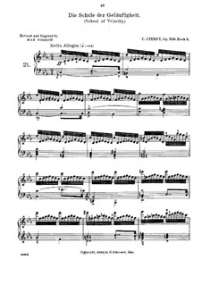 Schule der Geläufigkeit, Op.299: Übungen Nr.21-24 by Carl Czerny