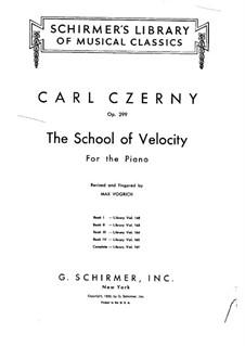 Schule der Geläufigkeit, Op.299: Übungen Nr.1-5 by Carl Czerny