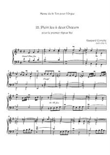 Messe: No.22 Plein Jeu à deux Chœurs pour le premier Agnus Dei by Gaspard Corrette