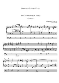 Messe: No.20 Cromhorne en Taille by Gaspard Corrette