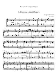 Messe: No.5 Dialogue à deux Choeurs by Gaspard Corrette