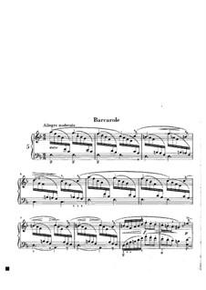Aquarelle, Op.19: Nr.5 Barkarole by Niels Wilhelm Gade