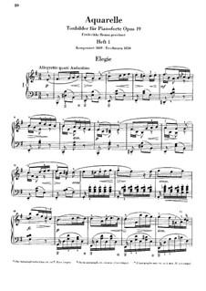 Aquarelle, Op.19: Nr.1-5 by Niels Wilhelm Gade