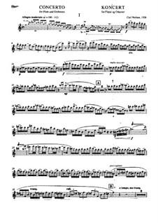 Konzert für Flöte und Orchester, FS 119: Solostimme by Carl Nielsen