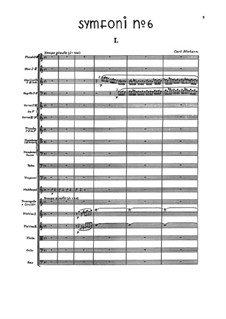 Sinfonie Nr.6 'Semplice', FS 116: Vollpartitur by Carl Nielsen