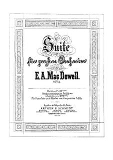 Suite für Orchester Nr.1, Op.42: Klavierauszug by Edward MacDowell
