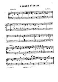 Herbei o ihr Gläubigen: Für Klavier by John Francis Wade