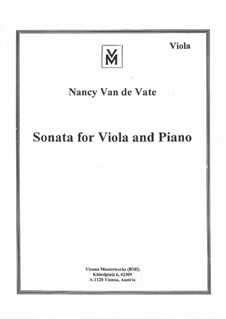 Sonata for Viola and Piano: Sonata for Viola and Piano by Nancy Van de Vate