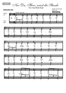 Nur Du, Herr, weißt die Stunde, Op.120: Nur Du, Herr, weißt die Stunde by Bernd Gehring