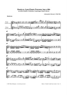 Duett für zwei Flöten Nr.3: Duett für zwei Flöten Nr.3 by Alessandro Besozzi