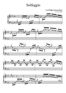 Solfeggietto, H 220 Wq 117:2: Für Klavier (Noten von hohem Qualität) by Carl Philipp Emanuel Bach