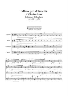 Missa pro defunctis: Offertorium by Johannes Ockeghem