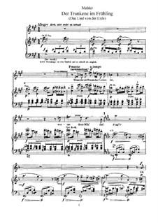 Der Trunkene im Frühling: Nr.5-6, für Stimme und Klavier by Gustav Mahler