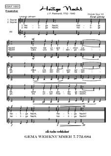 Weihnachtliches, Op.143: Nr.1 Heilige Nacht (FCH) by Johann Friedrich Reichardt