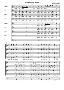 Jauchzet dem Herren : Jauchzet dem Herren  by Johann Pachelbel