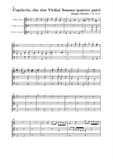 Capriccio für zwei Violinen und Basso Continuo, Op.8: Capriccio für zwei Violinen und Basso Continuo by Biagio Marini