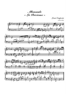 Allemande 'La précieuse': Allemande 'La précieuse' by Louis Couperin