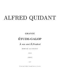 Grand Etude-Galop, Op.21: Für Klavier (Noten von hohem Qualität) by Alfred Quidant