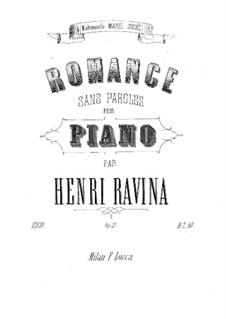 Romanze ohne Wörter, Op.27: Romanze ohne Wörter by Jean-Henri Ravina