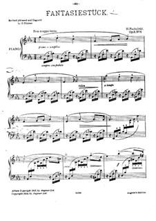 Zwei Stücke für Klavier, Op.2: Nr.1 Fantasiestück by Henryk Pachulski