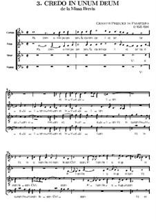 Missa Brevis: Credo by Giovanni da Palestrina
