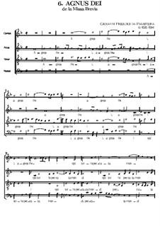 Missa Brevis: Agnus Dei by Giovanni da Palestrina